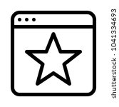 starred or favorite website | Shutterstock .eps vector #1041334693