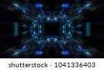 abstract futuristic sci fi warp ... | Shutterstock . vector #1041336403