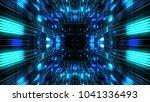 abstract futuristic sci fi warp ...   Shutterstock . vector #1041336493