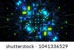 abstract futuristic sci fi warp ...   Shutterstock . vector #1041336529
