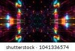 abstract futuristic sci fi warp ... | Shutterstock . vector #1041336574