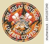 the great outdoor woodsman...   Shutterstock .eps vector #1041337240