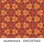 red sacred geometric seamless... | Shutterstock . vector #1041337663