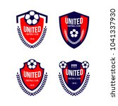 football club logo set vector... | Shutterstock .eps vector #1041337930