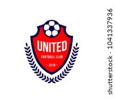 united football club logo... | Shutterstock .eps vector #1041337936