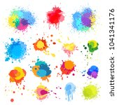 vector abstract paint splat ... | Shutterstock .eps vector #1041341176