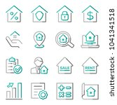 set of real estate icons.... | Shutterstock .eps vector #1041341518