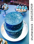 dark blue cake decorated with... | Shutterstock . vector #1041352939