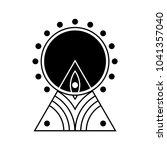vector symbol of alien crop... | Shutterstock .eps vector #1041357040