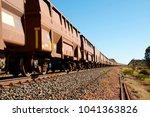 iron ore train   australia   Shutterstock . vector #1041363826
