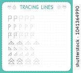 tracing lines. worksheet for... | Shutterstock .eps vector #1041364990