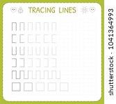 tracing lines. worksheet for...   Shutterstock .eps vector #1041364993