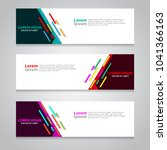 vector abstract design banner... | Shutterstock .eps vector #1041366163