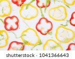 fresh ingredients  lettuce and... | Shutterstock . vector #1041366643