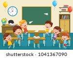 vector illustration of kids... | Shutterstock .eps vector #1041367090