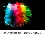 multicolor powder explosion on... | Shutterstock . vector #1041373579