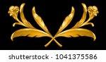 gold vintage baroque frame... | Shutterstock .eps vector #1041375586