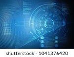 2d illustration technology... | Shutterstock . vector #1041376420