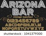 font alphabet typeface... | Shutterstock .eps vector #1041379300