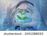 green herbal medicine research... | Shutterstock . vector #1041388033