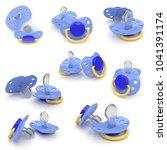 3d realistic render of pacifier ... | Shutterstock . vector #1041391174