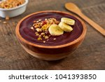 acai berry bowl with granola... | Shutterstock . vector #1041393850