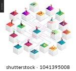network concept vector... | Shutterstock .eps vector #1041395008