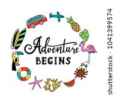 and so the adventure begins.... | Shutterstock .eps vector #1041399574