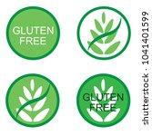 gluten free sign. vector | Shutterstock .eps vector #1041401599
