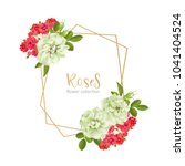 wedding invitation with wild... | Shutterstock .eps vector #1041404524