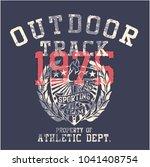 college outdoor track  sporting ...   Shutterstock .eps vector #1041408754