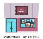 art gallery isolated on white...   Shutterstock .eps vector #1041411913