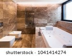 luxurious marble bathroom with... | Shutterstock . vector #1041414274