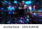 flight into abstract 3d cosmic... | Shutterstock . vector #1041418438