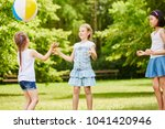 interracial group of children... | Shutterstock . vector #1041420946