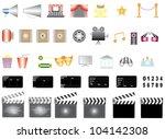 cinema icons. icons set cinema... | Shutterstock .eps vector #104142308