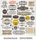 vector set  calligraphic design ... | Shutterstock .eps vector #104143004