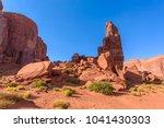 scenic drive on dirt road...   Shutterstock . vector #1041430303