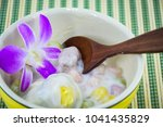 dumplings in coconut cream and... | Shutterstock . vector #1041435829