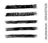 brush stroke set. texture. | Shutterstock .eps vector #1041437620