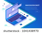 isometric training  online... | Shutterstock .eps vector #1041438970
