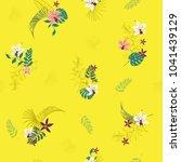 beautiful summer bright... | Shutterstock .eps vector #1041439129