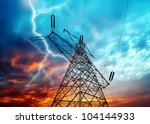 dramatic image of power... | Shutterstock . vector #104144933