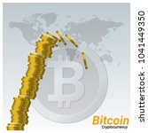 virtual cryptocurrency crisis... | Shutterstock .eps vector #1041449350