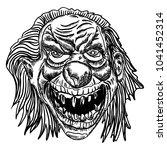 scary cartoon clown... | Shutterstock . vector #1041452314