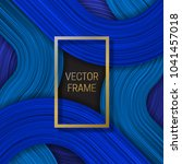 volumetric frame on saturated... | Shutterstock .eps vector #1041457018
