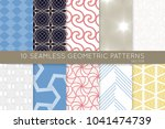 collection of seamless patterns.... | Shutterstock .eps vector #1041474739