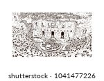 ancient sites in athens  greece.... | Shutterstock .eps vector #1041477226