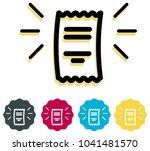 receipt  icon   illustration as ... | Shutterstock .eps vector #1041481570