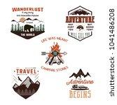 vintage adventure tee shirts... | Shutterstock .eps vector #1041486208